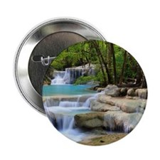 """Forest Waterfalls 2.25"""" Button (100 pack)"""