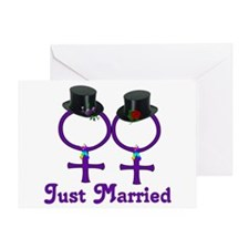 Just Married Formal Lesbian Greeting Card
