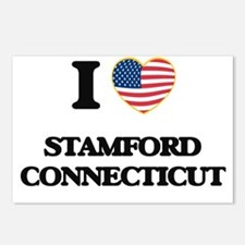 I love Stamford Connectic Postcards (Package of 8)