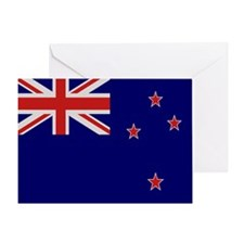 """New Zealand Flag"" Greeting Card"