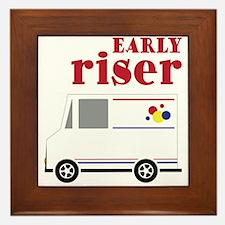 Early Riser Framed Tile