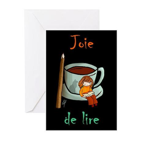 """Joie de lire"" Greeting Cards (Pk of 10)"