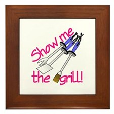 Show Me The Grill Framed Tile