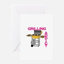 Grilling Addict Greeting Cards