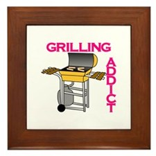 Grilling Addict Framed Tile
