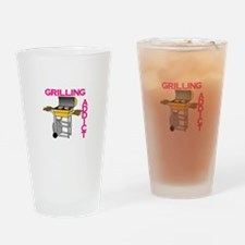 Grilling Addict Drinking Glass
