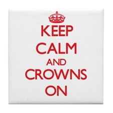 Crowns Tile Coaster