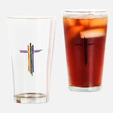 Rainbow Cross Drinking Glass
