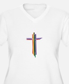 Rainbow Cross Plus Size T-Shirt