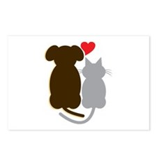 Dog Heart Cat Postcards (Package of 8)