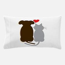 Dog Heart Cat Pillow Case