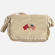 Norwegian American Flags Messenger Bag