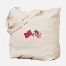 Norwegian American Flags Tote Bag