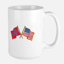 Norwegian American Flags Mugs