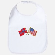 Norwegian American Flags Bib