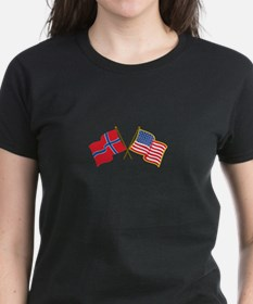 Norwegian American Flags T-Shirt