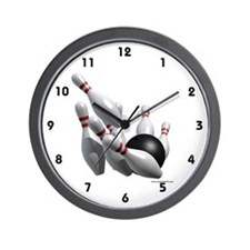 Bowling Strike Wall Clock