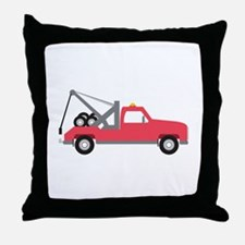 Tow Truck Throw Pillow