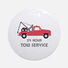 24 Hour Tow Service Ornament (Round)