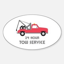 24 Hour Tow Service Decal
