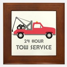 24 Hour Tow Service Framed Tile