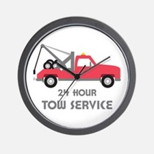24 Hour Tow Service Wall Clock