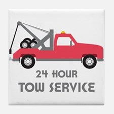 24 Hour Tow Service Tile Coaster