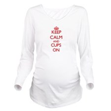 Cups Long Sleeve Maternity T-Shirt