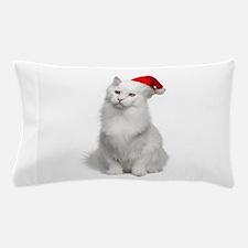 Angora Santa Cat Pillow Case