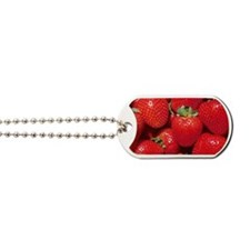 Strawberries Dog Tags