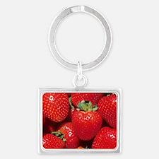 Strawberries Landscape Keychain