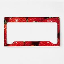 Strawberries License Plate Holder