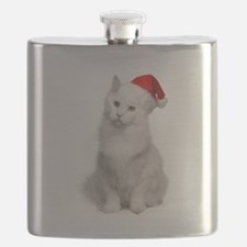 Angora Santa Cat Flask