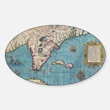 Historical Map of Florida (1591) Decal