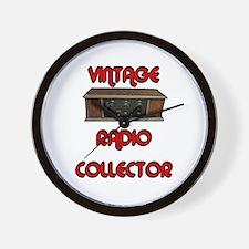 Vintage Radio Collector, Wall Clock