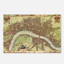 Vintage Map of London (17 Postcards (Package of 8)