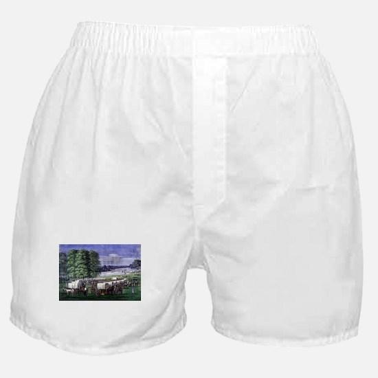 Wagon Train Boxer Shorts