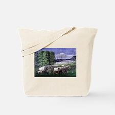 Wagon Train Tote Bag