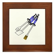 BBQ Tools Framed Tile