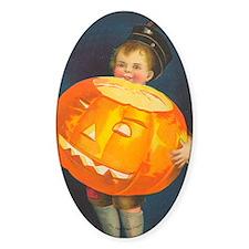 TLK008 Pumpkin Boy Oval Decal