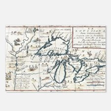 Vintage Map of The Great  Postcards (Package of 8)