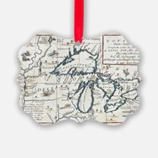 Vintage Map of The Great Lakes (1 Ornament