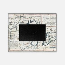 Vintage Map of The Great Lakes (1696 Picture Frame