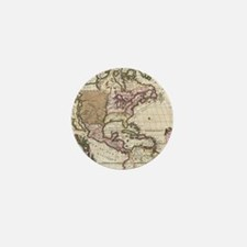 Vintage Map of The Americas (1698) Mini Button