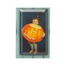 TLK008 Pumpkin Boy Rectangle Magnet