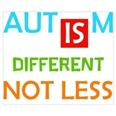 Autism Is Different Not Less Poster