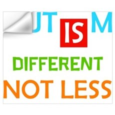 Autism Is Different Not Less Wall Decal