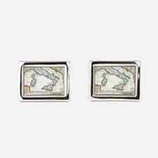 Vintage Map of Italy (1706) Rectangular Cufflinks