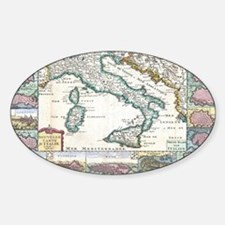 Vintage Map of Italy (1706) Decal