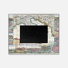 Vintage Map of Italy (1706) Picture Frame